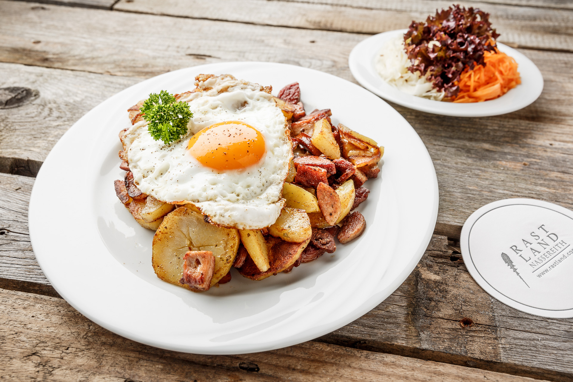 Restaurant Rastland Nassereith Bratkartoffeln mit Spiegelei