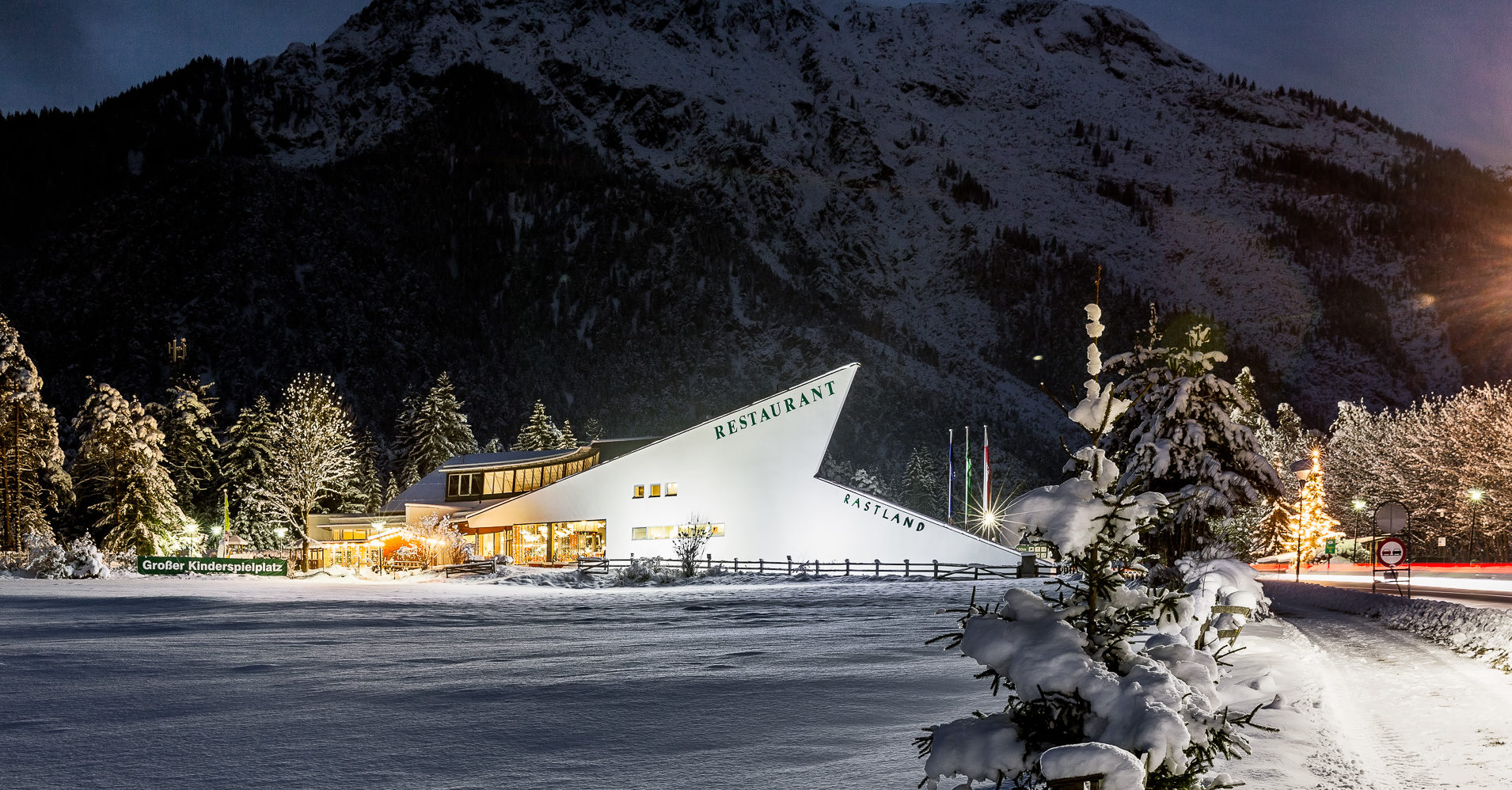 Restaurant Fernpass Tirol Winter